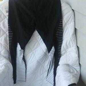 Jockey workout pants black/white sz L nwt